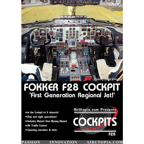Air Utopia DVD Fokker F28: First Generation Regional Jet: PB Air Cockpit #6