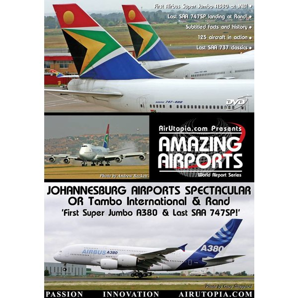 Air Utopia DVD Johannesburg Airports Spectacular A380 #27