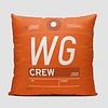 "WG Throw Pillow Sunwing 14x14x6"" stuffed"