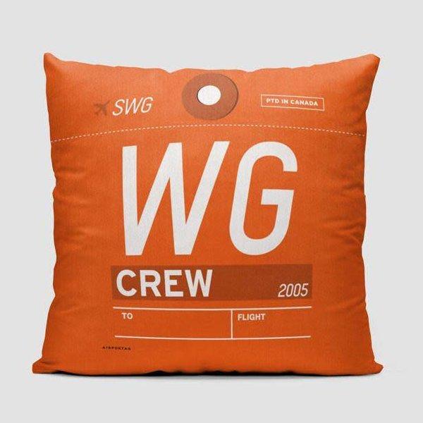 "Airportag WG Throw Pillow Sunwing 14x14x6"" stuffed"