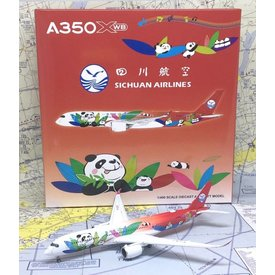 JC Wings A350-900 Sichuan Airlines Panda Livery B-301D 1:400 flaps down