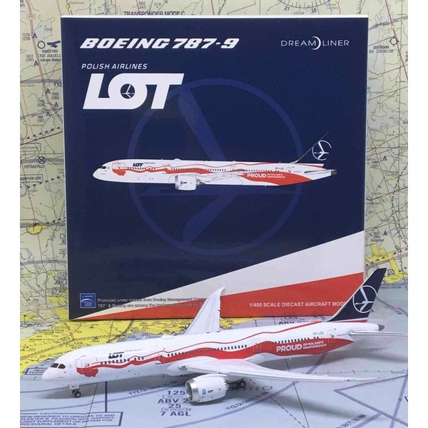 JC Wings B787-9 Dreamliner LOT Polish 100th Anniversary of Independence SP-LSC 1:400