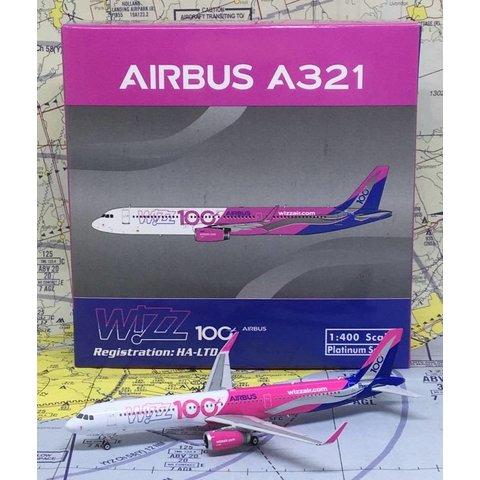 A321S Wizz Air 100th Airbus HA-LTD Sharklets 1:400