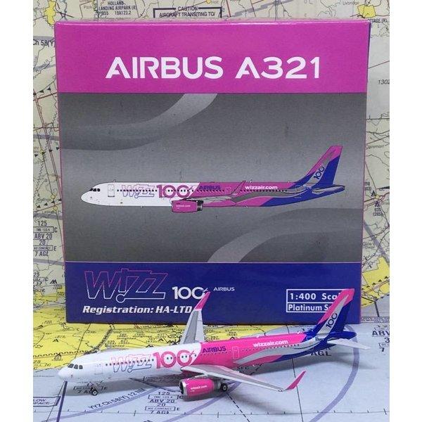 Phoenix A321S Wizz Air 100th Airbus HA-LTD Sharklets 1:400