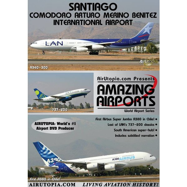 Air Utopia DVD Santiago International Airport Chile First A380 #72