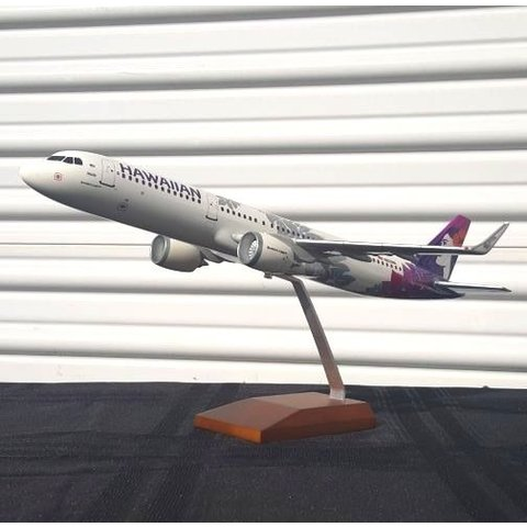 A321neo Hawaiian New Livery 2017 N202HA 1:100 with stand