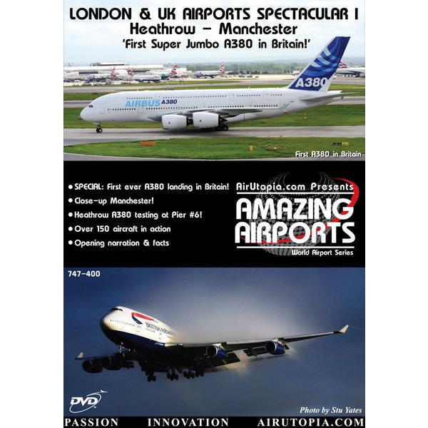 Air Utopia DVD London & UK Airports: Heathrow & Manchester 1st A380 #29