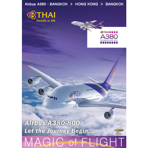 Air Utopia DVD Thai Airways Airbus A380-800 Cockpit Bangkok Hong Kong #114