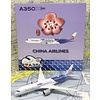 A350-900XWB China Airlines Carbon Fibre B-18918 1:400 flaps down