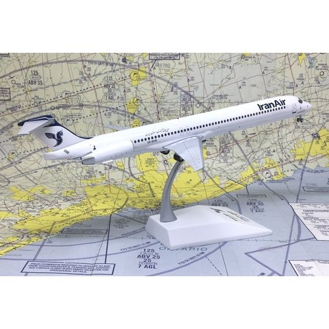 MD83 Iran Air UR-BXM 1:200 with stand