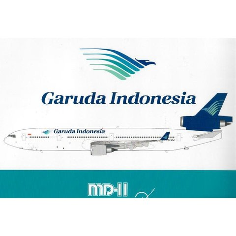 MD11 Garuda Indonesia PK-GIJ 1:200 with stand
