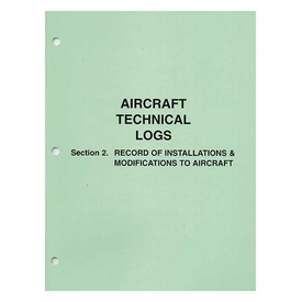 Transport Canada A/C Technical Log: Section 2: Installations softcover