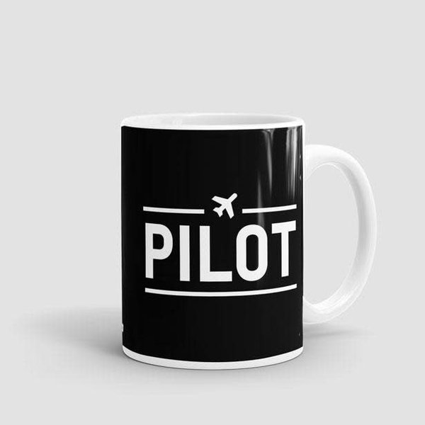 Airportag Mug Pilot Black 11 oz