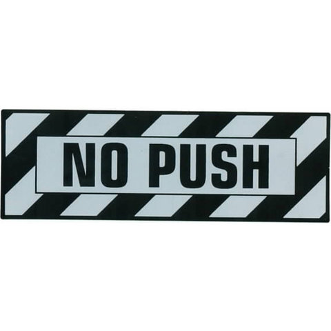 Aircraft Placard No Push