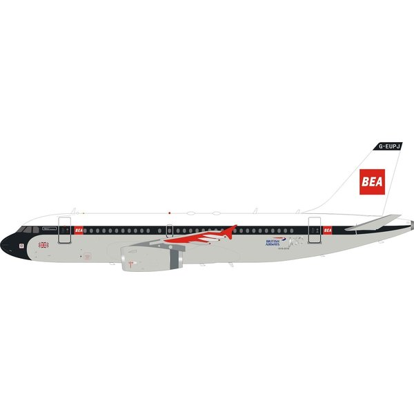 Lupa Aircraft Models A319 British Airways 100 Yrs BEA Retro G-EUPJ 1:200