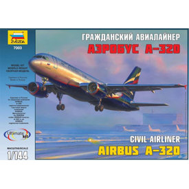 Zvesda A320 Aeroflot 2003 livery 1:144 model kit