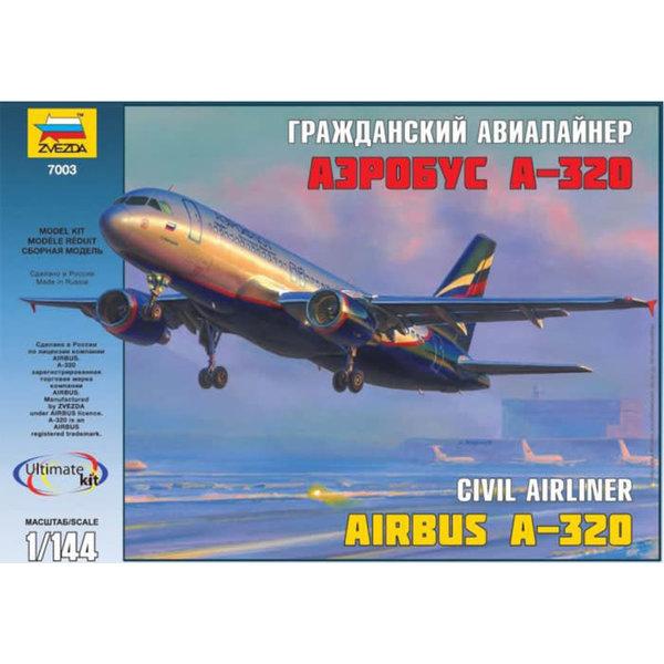 Zvesda A320 Aeroflot 2003 livery 1:144 model kit