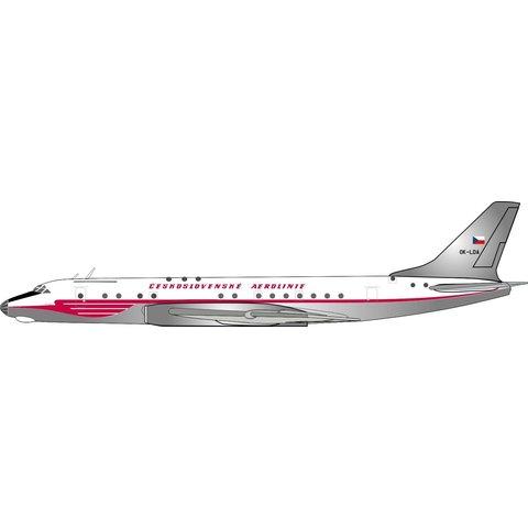 Tu104A CSA Ceskoslovenske Aerolinie OK-LDA 1:400 With Stand