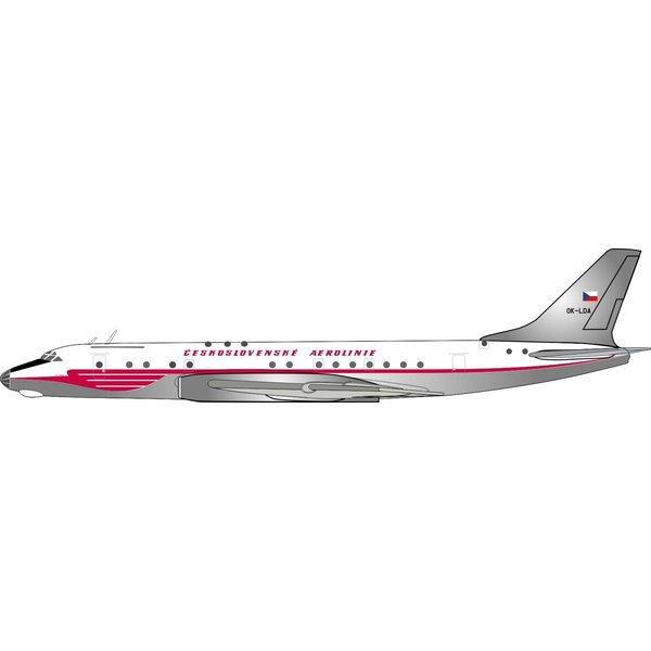 InFlight Tu104A CSA Ceskoslovenske Aerolinie OK-LDA 1:400 With Stand