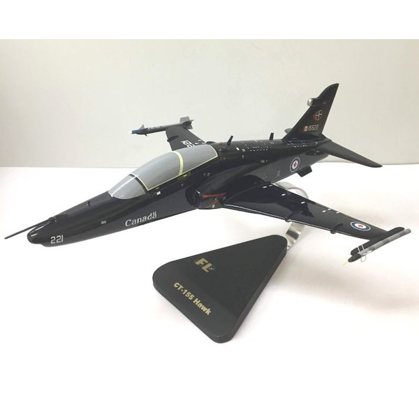 CT155 Hawk RCAF Blue 155221 NFTC Mahogany with weapons & stand