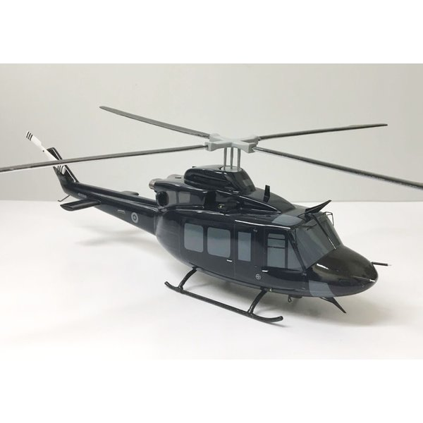 CH146 Griffon RCAF Blue 146485 (Bell 412) Mahogany with stand