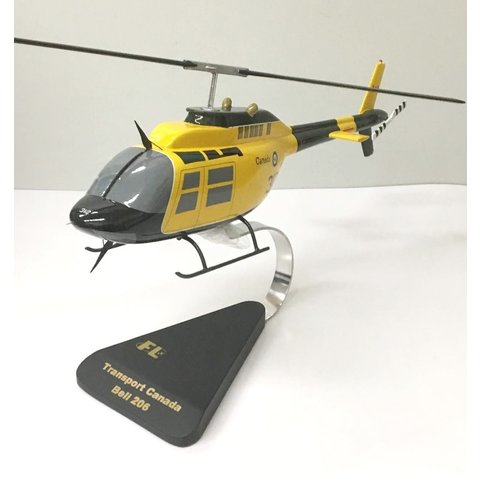 CH139 Jetranger RCAF Yellow Green 139312 (Bell 206) Mahogany with stand