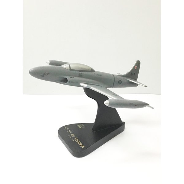 CT133 Silver Star T-Bird 417 Combat Support Squadron RCAF mahogany with stand