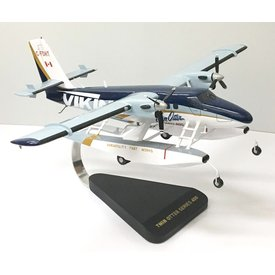 DHC6-400 Twin Otter Floats Viking Aerospace C-FDHT mahogany with stand++SALE++)minor cracking)