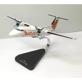 DHC8-100 dash8 Air Canada Jazz Red Leaf Tail mahogany with stand++SALE++(minor cracking)