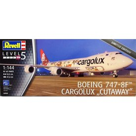 Revell Germany B747-8F CARGOLUX Cutaway Model 1:144 Scale Kit