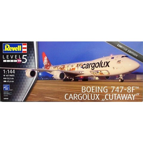 B747-8F CARGOLUX Cutaway Model 1:144 Scale Kit