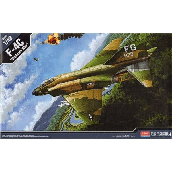 Academy F4C Phantom Vietnam War 1:48 Scale Kit