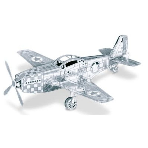 3D Laser Cut Model P51 Mustang
