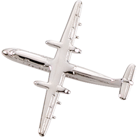 ATR-42 (3-D CAST) AIRPLANE PIN Silver