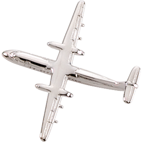 ATR-42 (3-D CAST) AIRPLANE PIN Silver