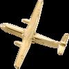 ATR-42 (3-D CAST) AIRPLANE PIN Gold