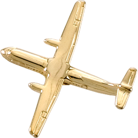 Johnson's ATR-42 (3-D CAST) AIRPLANE PIN Gold