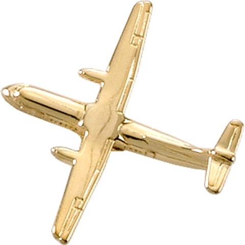 ATR-42 (3-D CAST) AIRPLANE PIN Gold