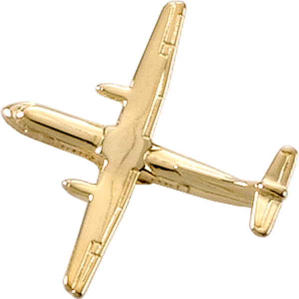 Johnson's ATR-42 (3-D CAST) AIRPLANE PIN Gold