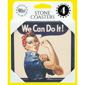 Stone Coasters Rosie The Riveter We Can Do It