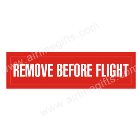 Patch Remove Before Flight Iron-on