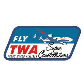 Patch Fly TWASuper Constellation  Retro Iron-on