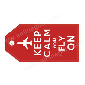 Luggage Tag Carry On Red