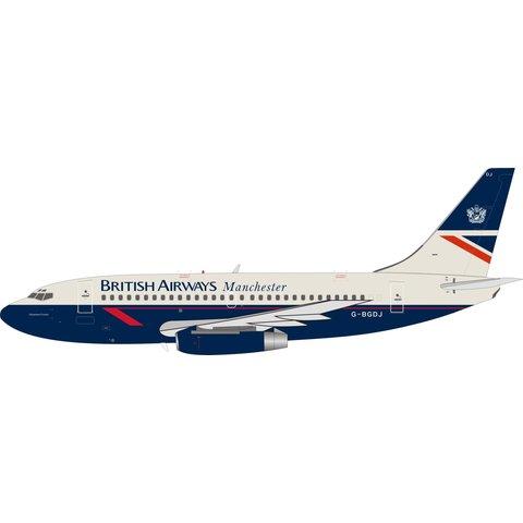 B737-200 British Airways Manchester Delamere Forest Landor G-BGDJ 1:200 With Stand
