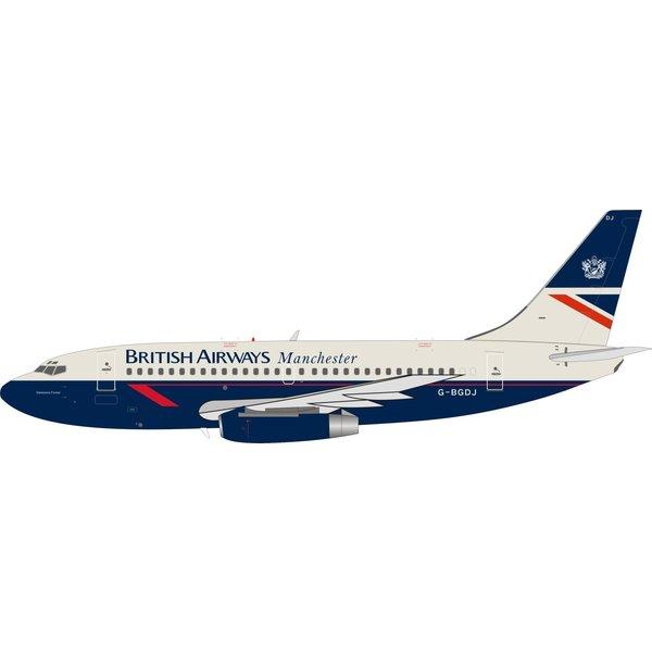 InFlight B737-200 British Airways Manchester Delamere Forest Landor G-BGDJ 1:200 With Stand