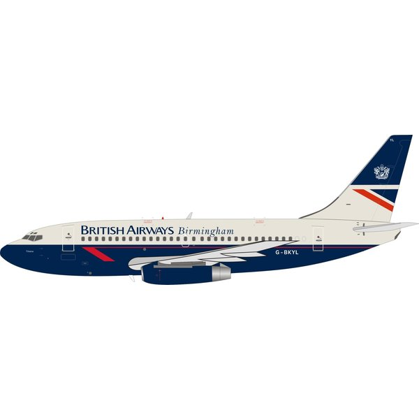 InFlight B737-200 British Airways Birmingham Landor G-BKYL With Stand