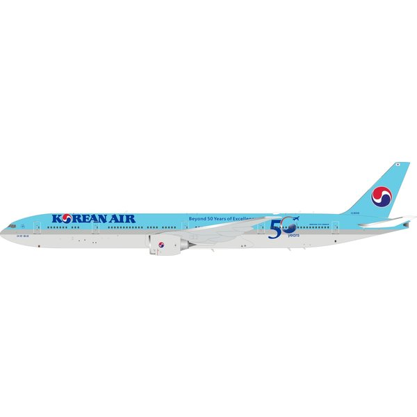 InFlight B777-300ER Korean Air Beyond 50 Years of Excellence HL8008 1:200 with Stand