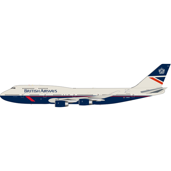 Lupa Aircraft Models B747-400 British Airways Landor Retro Livery #BA100 G-BNLY 1:200 with Stand