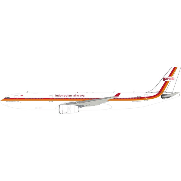 InFlight A330-300 Garuda Indonesia 1980s Retro Livery PK-GHD 1:200 with stand