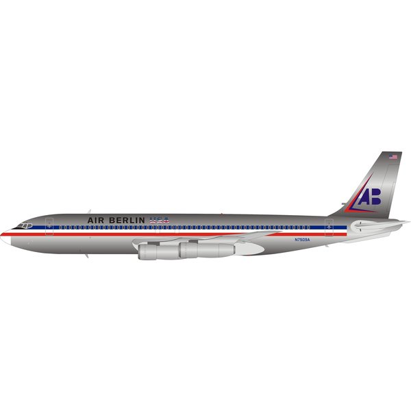 InFlight B707-100 Air Berlin American livery N7509A 1:200 Polished with stand